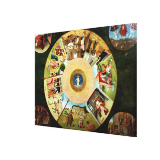 Tabletop of the Seven Deadly Sins Stretched Canvas Prints