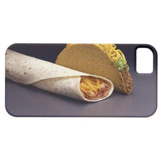 Taco and bean burrito iPhone 5 cover