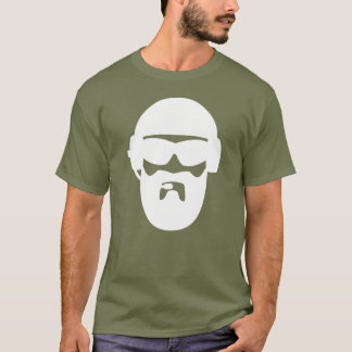 Tactical Operator Beard in White T-Shirt