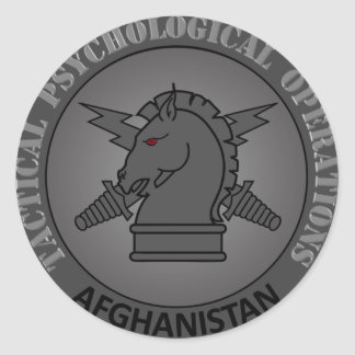 Tactical PSYOP AFG.png Classic Round Sticker