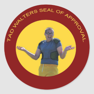 Tad Walter Seal of Approval Round Stickers