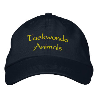 Taekwondo Animals Hat Baseball Cap