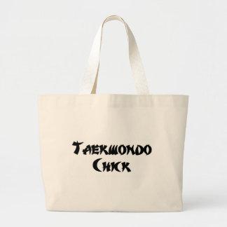 Taekwondo Chick Large Tote Bag