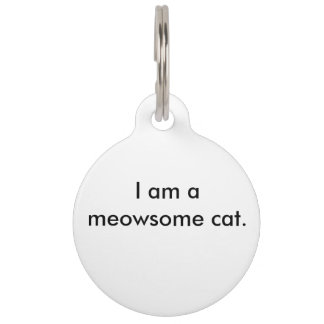 Tag for a special cat pet name tag