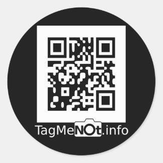 TagMeNotW-2000 Round Sticker