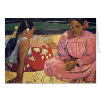 'Tahitian Women on the Beach' - Paul Gauguin Card
