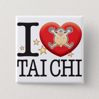 Tai Chi Love Man 15 Cm Square Badge