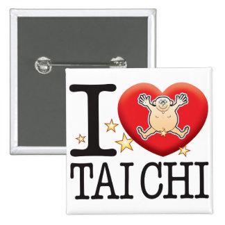 Tai Chi Love Man 15 Cm Square Badge