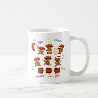 Taiko Gifts Cute Drumming Bears Mug Personalised