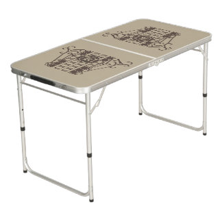 Tailgate Size Pong Table IRONWORK SCROLLWORK 2