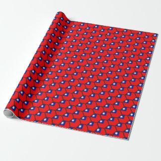Taiwan Flag Honeycomb Wrapping Paper