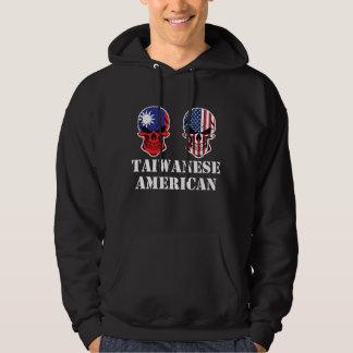 Taiwanese American Flag Skulls Hoodie