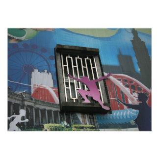Taiwanese graffiti Taipei Taiwan Custom Invitation