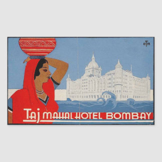 Taj Mahal Hotel (Bombay India) Rectangular Sticker