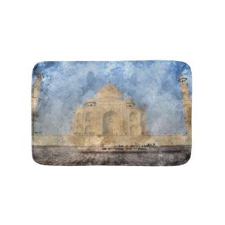 Taj Mahal in Agra India Bath Mat