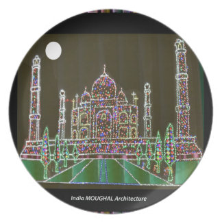 TAJ Mahal Mughal Architecture India Agra Heritage Party Plate