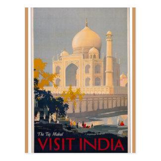 Taj Mahal Vertical Postcard