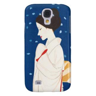 Takasawa Keiichi Large Snowflake japanese lady Galaxy S4 Case