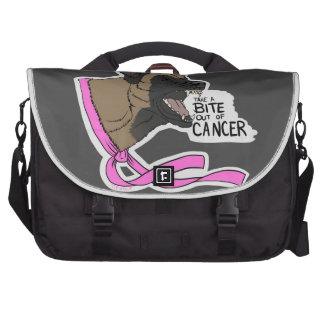 Take a BITE out of CANCER! Belgian Malinois Laptop Bags