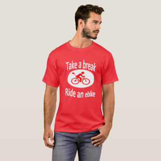 """Take a break"" Ebike design tee for men"