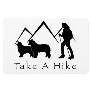 Take a Hike Magnet- Aussie/Border Collie Magnet