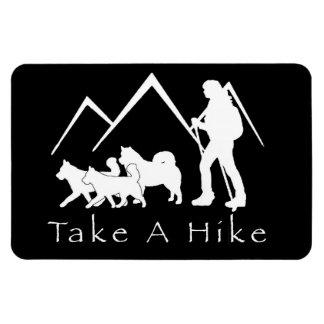 Take a Hike Magnet- Husky/Malamute Magnet
