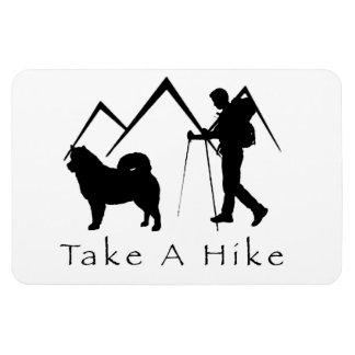 Take A Hike Magnet-Malamute Mountains Magnet
