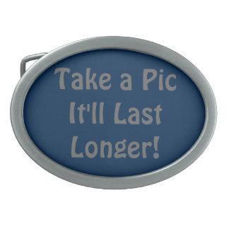 Take a Pic It'll Last Longer! Oval Belt Buckle