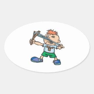 Take Aim Oval Sticker