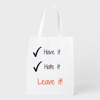 Take it or leave it tote