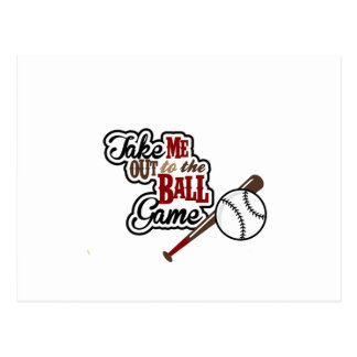 Take Me Out To The Ball Game design Postcard
