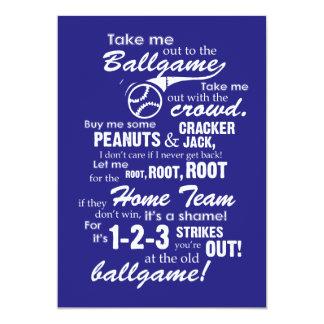 Take Me Out to the Ballgame Card