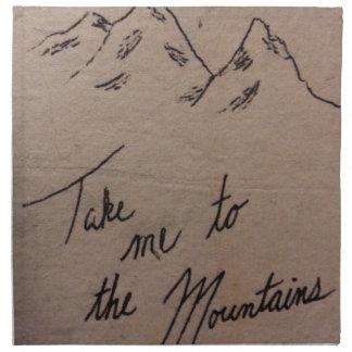 Take Me to the Mountains Napkin