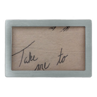 Take Me to the Mountains Rectangular Belt Buckles