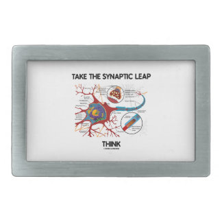 Take The Synaptic Leap Think (Neuron Synapse) Rectangular Belt Buckle