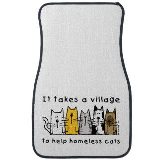 Takes a Village Help Homeless Cats Car Mat