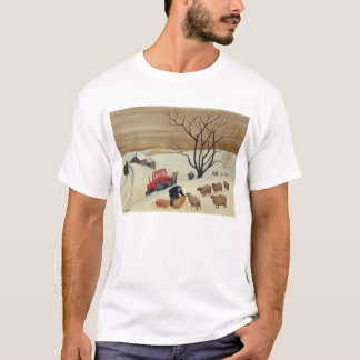 Taking Hay to the Sheep by Tractor T-Shirt