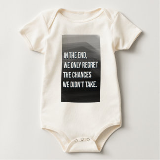 Taking Risks Inspirational Motivational Quote Baby Bodysuit