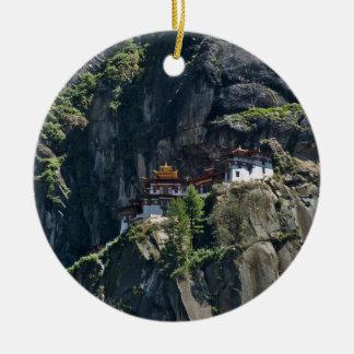 Taktsang Monastery on the cliff, Paro, Bhutan Christmas Ornament