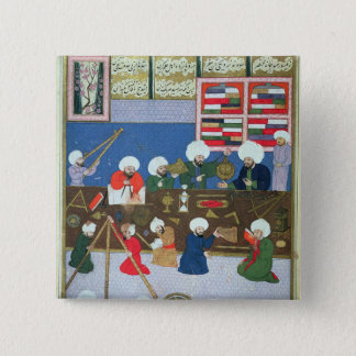 Takyuddin and other astronomers 15 cm square badge
