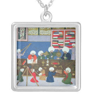 Takyuddin and other astronomers silver plated necklace