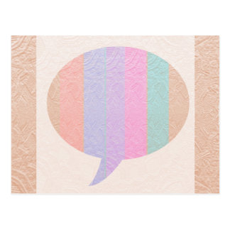 TALK Bubble :  Buy Blank or add Greeting Text Postcard