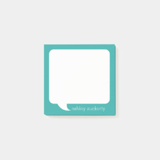 Talk Bubble Personalised Name - CAN EDIT COLOR Post-it® Notes