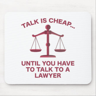 Talk Is Cheap Mouse Pad