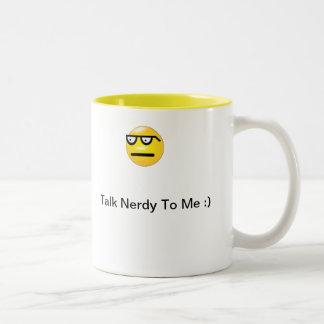 Talk Nerdy Emoticon Mug