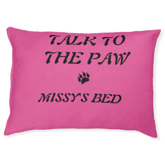 Talk to the Paw Personalized Pet Bed