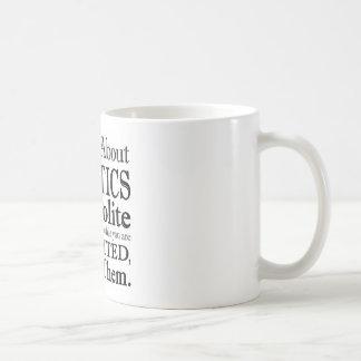 Talking About Politics Basic White Mug
