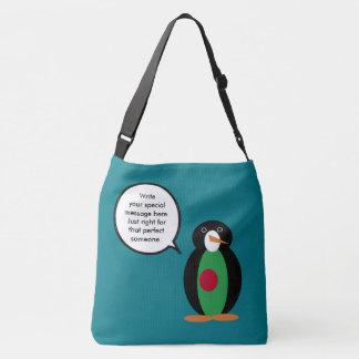 Talking Penguin Bangladeshi Flag Crossbody Bag
