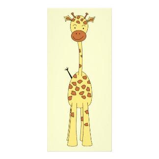 Tall Cute Giraffe. Cartoon Animal. 10 Cm X 23 Cm Rack Card