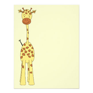 Tall Cute Giraffe. Cartoon Animal. Invites